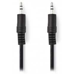 NEDIS stereo audio kabel s jackem/ zástrčka 3,5 mm - zástrčka 3,5 mm/ černý/ 50cm