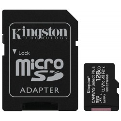 KINGSTON Canvas Select Plus 128GB microSD / UHS-I / CL10 / vč. SD adaptéru