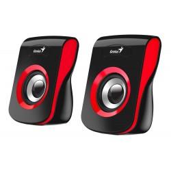 """GENIUS repro SP-Q180 Red/ 2.0/ 6W/ USB napájení/ 3,5"""" jack/ černočervené"""
