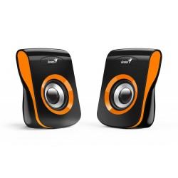 "GENIUS repro SP-Q180 Orange/ 2.0/ 6W/ USB napájení/ 3,5"" jack/ černooranžové"