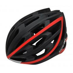 SAFE-TEC Chytrá helma/ TYR Black-Red XL