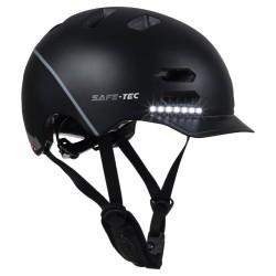 SAFE-TEC Chytrá Bluetooth helma/ SK8 Black S
