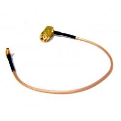 Pigtail MMCX - RSMA MALE 90° úhlový, RG316