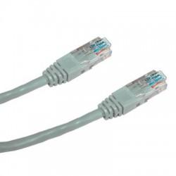 DATACOM Patch kabel UTP CAT5E 0,5m (x) šedý křížený