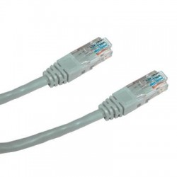 DATACOM Patch kabel UTP CAT5E 3m (x) šedý křížený
