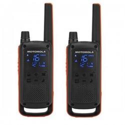 Motorola vysílačka TLKR T82   2 ks, dosah až 10 km, IPx2, černo/oranžová