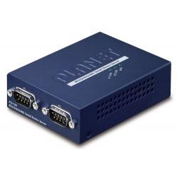 PLANET konvertor RS-232/422/485 na IP, 2x COM, 100Mb, -10~+60°C, SNMP+Telnet