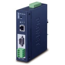 PLANET MODBUS průmyslová brána RS-232/422/485 na IP, 1x COM, 100Base-TX, RTU/ACSII, -40až+75°C, 9-48VDC, IP30