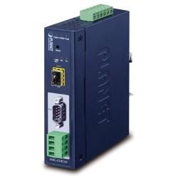 PLANET MODBUS průmyslová brána RS-232/422/485 na IP, 1x COM, 100Base-FX SFP, RTU/ACSII, -40až+75°C, 9-48VDC, IP30