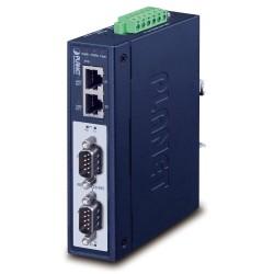 PLANET MODBUS průmyslová brána RS-232/422/485 na IP, 2x COM, 100Base-TX, RTU/ACSII, -40až+75°C, 12-48VDC, IP30