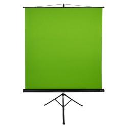 """AROZZI Green Screen/ zelené plátno pro fotografy a streamery/ mobilní trojnožka 90"""" (228 cm)/ 157 x 157 cm/ case černý"""
