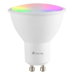 NGS Wi-Fi chytrá LED žárovka / 5W/ GU10/ 460lm/ 2100K- 6500K & RGB full color