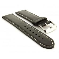 IMMAX řemínek pro chytré hodinky OWN FACE/ kožený/ černo-bílý
