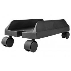NEDIS stojan na stolní PC/ nastavitelná sířka/ 2 uzamykatelná kolečka/ černý