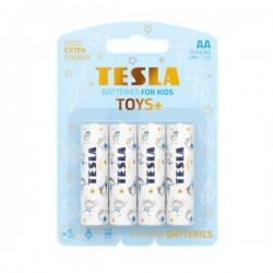 TESLA TOYS+ BOY alkalická baterie AA (LR06, tužková, blister) 4 ks