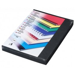 EUROSUPPLIES vazací desky (kryt) Delta/ formát A4/ černý/ 100 pack