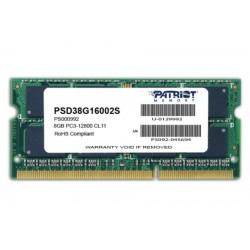 PATRIOT Signature 8GB DDR3 1600MHz / SO-DIMM / CL11 / PC3-12800