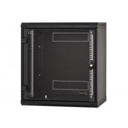 """Triton 19"""" rozvaděč jednodílný 12U/400mm, celoskleněné dveře, černý"""