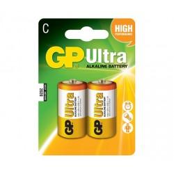 GP alkalická baterie 1,5V C (LR14) Ultra 2ks blistr