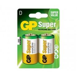 GP alkalická baterie 1,5V D (LR20) Super 2ks blistr