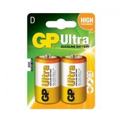 GP alkalická baterie 1,5V D (LR20) Ultra 2ks blistr