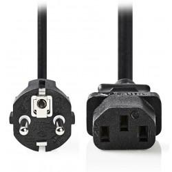 NEDIS napájecí kabel 230V/ přípojný 10A/ konektor IEC-320-C13/ přímá zástrčka Schuko/ černý/ 10m