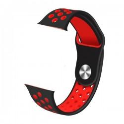 IMMAX řemínek pro chytré hodinky SW10/ SW13/ SW13 PRO/ Apple watch/ černo-červený