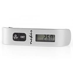 NEDIS digitální váha zavazadel/ max. zatížení 50kg/ šedo-černá