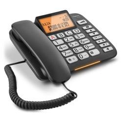 SIEMENS GIGASET DL580 - standardní telefon s displejem, seznam na 99 čísel, handsfree, výborný zvuk, barva černá