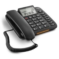 SIEMENS GIGASET DL380 - standardní telefon s displejem, seznam na 99 čísel, handsfree, CLIP, barva černá