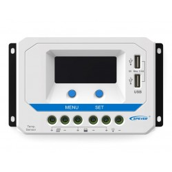 EPsolar VS3024AU solární PWM regulátor 12/24 V, 30 A, USB, vstup 50V