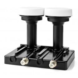 NEDIS univerzální LNB konvertor/ monoblok se dvěma výstupy 4.3/ úroveň šumu: 0,2–0,85 dB