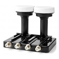 NEDIS univerzální LNB konvertor/ monoblok se čtyřmi výstupy 4.3/ úroveň šumu: 0,2–0,85 dB