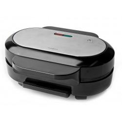 NEDIS hamburgerovač/ příkon 1000 W/ průměr desky 10,5 cm/ černo-stříbrný