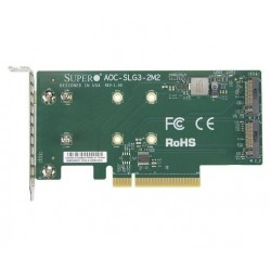 SUPERMICRO PCIe Add-On Card for up to two M.2 NVMe SSDs