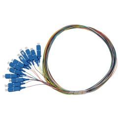 Solarix pigtail SC pc, SM 09/125, 1,5m, balení 12ks barevně rozlišeno,  SXPI-SC-PC-OS-1,5M-12PCK