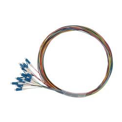 Solarix pigtail LC pc, SM 09/125, 1,5m, balení 12ks barevně rozlišeno,  SXPI-LC-PC-OS-1,5M-12PCK