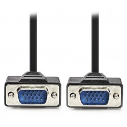 NEDIS kabel VGA (D-SUB)/ zástrčka VGA - zástrčka VGA/ černý/ 10m
