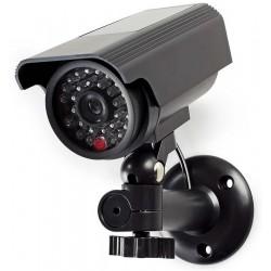 NEDIS atrapa bezpečnostní kamery s blikající LED/ bullet/ IP44/ venkovní/ černá