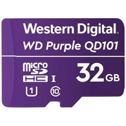 WD PURPLE 32GB MicroSDHC QD101 / WDD032G1P0CC / CL10 / U1 /