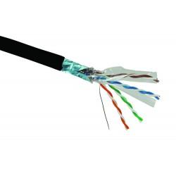 Solarix Kabel FTP PE drát c6 venkovní, 500m/špulka černý, SXKD-6-FTP-PE