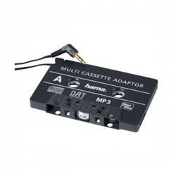 HAMA adaptér pro přehrávání CD/MD/MP3 v kazetovém přehrávači/ 3,5 mm jack/ černý
