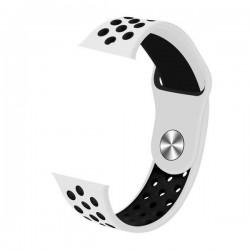 IMMAX řemínek pro chytré hodinky SW10/ SW13/ SW13 PRO/ Apple watch/ bílo-černý