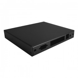 PC Engines montážní krabice CASE1D4BLKU, USB, 4x LAN, černá