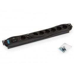 Triton 19',8xDE zásuvka,bleskojistka,3x1.5mm 2m kabel CZ-DE, RAL9005