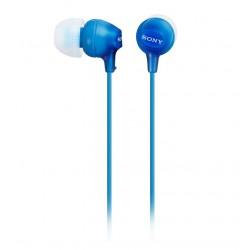 SONY sluchátka do uší MDREX15LPI/ drátová/ 3,5mm jack/ citlivost 100 dB/mW/ modrá