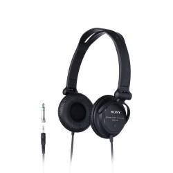 SONY sluchátka náhlavní MDRV150/ drátová/ 3,5mm jack/ citlivost 98 dB/mW/ černá