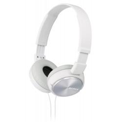 SONY sluchátka náhlavní MDRZX310W/ drátová/ 3,5mm jack/ citlivost 98 dB/mW/ bílá