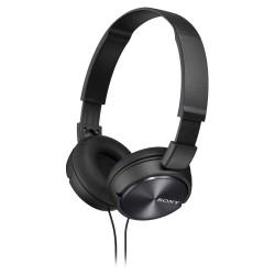 SONY sluchátka náhlavní MDRZX310B/ drátová/ 3,5mm jack/ citlivost 98 dB/mW/ černá