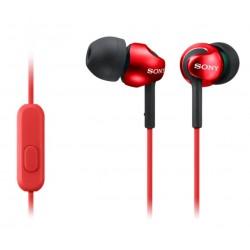 SONY sluchátka do uší MDREX110APR/ drátová/ 3,5mm jack/ citlivost 103 dB/mW/ červená